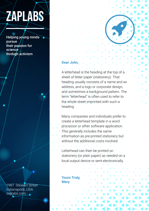 Chemical Company Corporate Letterhead