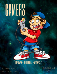 Gamers Fun Night Flyer (US Letter) template