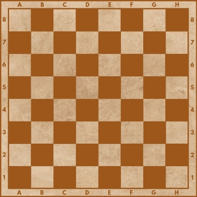 Chess Board Printable Template Square (1:1)