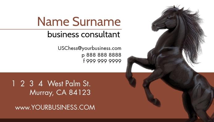 Chess Business Card Template Kartu Bisnis