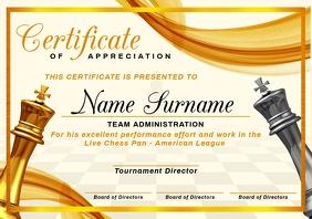 Chess Certificate of Appreciation Template A4