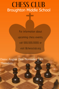 Chess Club Póster template