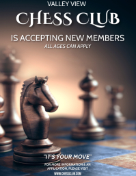 CHESS CLUB Flyer (US Letter) template