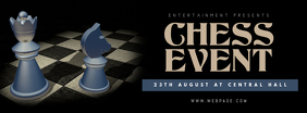 Chess Event Facebook Cover Template