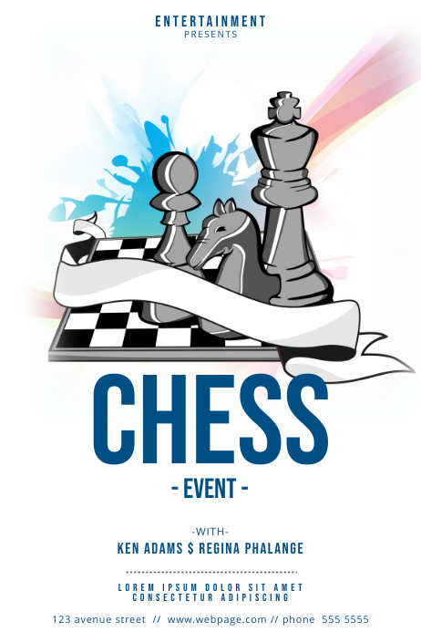 Chess Flyer template Poster
