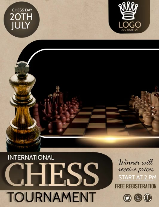 Chess game,Chess tournament,games ใบปลิว (US Letter) template