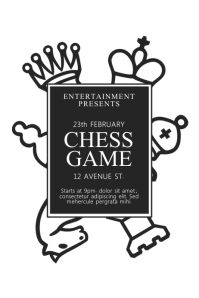 Chess Game Tournament Flyer Template
