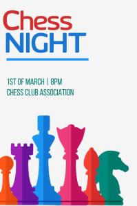 Chess Night Plakat template