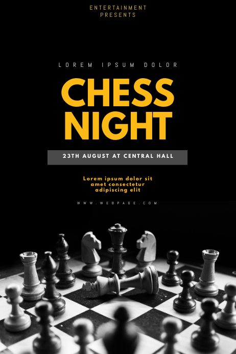 chess night flyer template postermywall