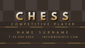 Chess Player Business Card Template Wizytówka