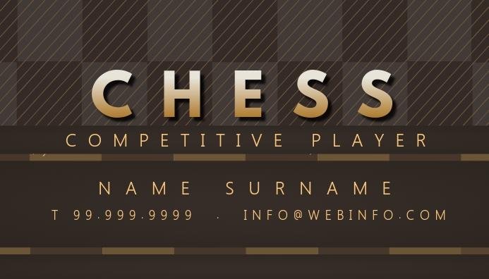 Chess Player Business Card Template Kartu Bisnis