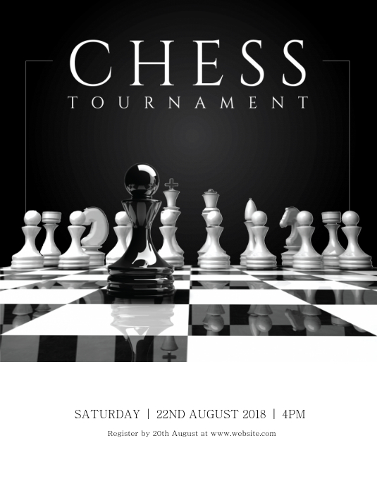 Chess Tournament Flyer (US Letter) template