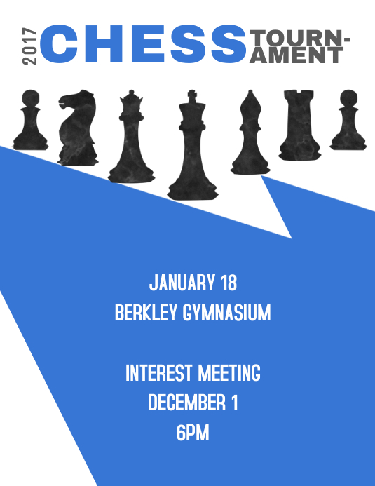 chess tournament template postermywall