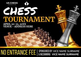 Chess Tournament Invitation Template A4