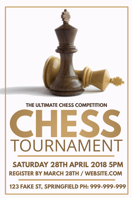 chess tournament poster template