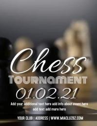 Chess Tournament Video Flyer 传单(美国信函) template