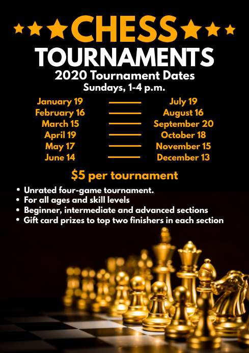 Chess Tournaments Schedule Template A4
