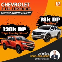 Chevrolet Publicação no Instagram template