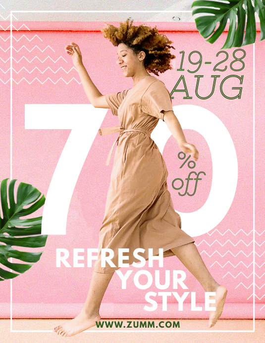 Chic Summer Fashion Sale Poster Pamflet (VSA Brief) template