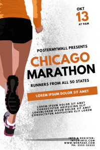 Chicago Marathon Flyer Design Template