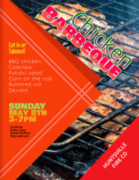 Chicken Barbeque Fundraiser flyer