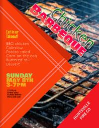 Chicken Barbeque Fundraiser flyer template