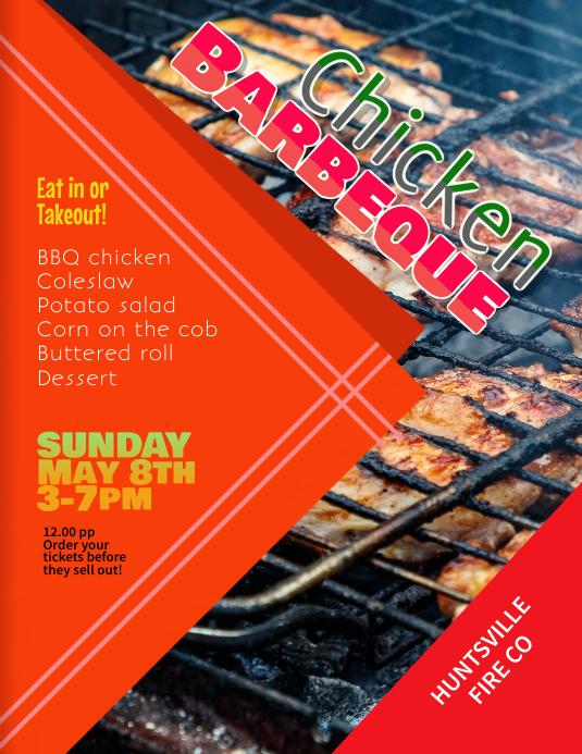 Chicken Barbeque Fundraiser flyer