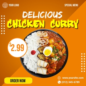 Chicken Curry Social Media Ad Template