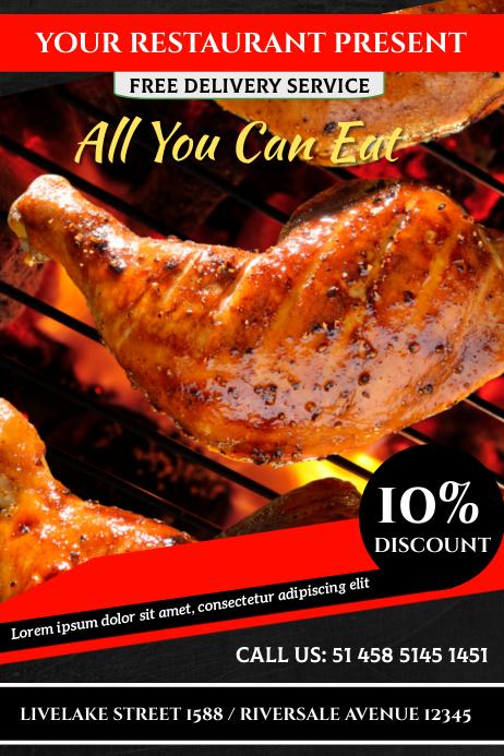 Chicken Cartaz template