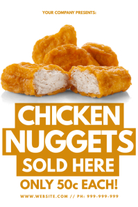 Chicken Nuggets Sold Here Poster