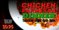 Chicken Parmesan dinner event facebook cover template