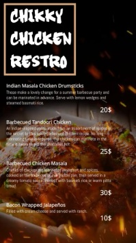 chicken restaurant digital template