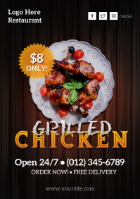 Chicken Restaurant Flyer