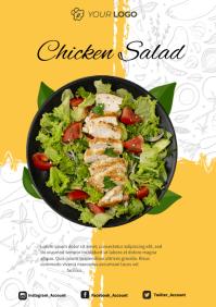 Chicken Salad Menu Poster A4 template
