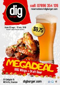 Chicken wings megadeal flyer