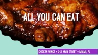 Chicken Wings Restaurant Restaurant Video Ad Digital Display (16:9) template