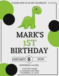 Child's 1st Birthday Invitation Template