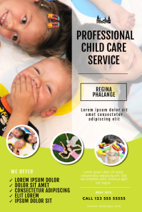 child care babysitting flyer template
