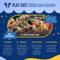 Child Care Center Instagram Video สี่เหลี่ยมจัตุรัส (1:1) template