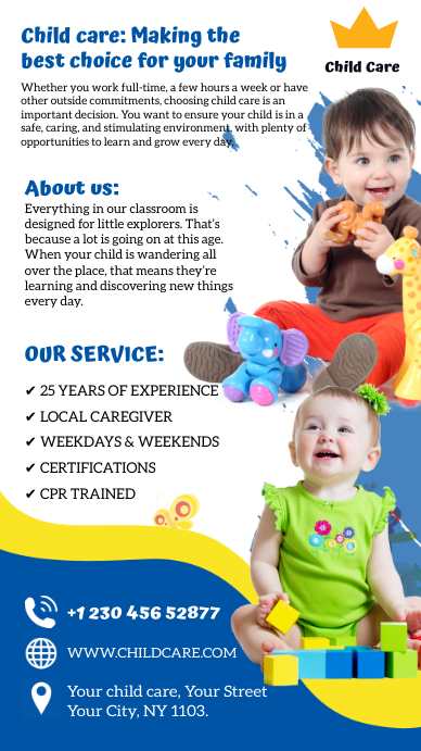 Child care Estado de WhatsApp template