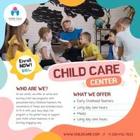 Child Care Instagram Video สี่เหลี่ยมจัตุรัส (1:1) template