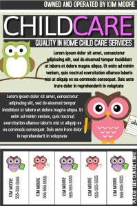 childcare flyer babysitter flyer child care