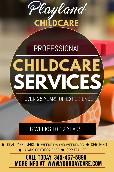 child care services video template 海报