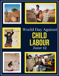 Child Labor, World day against Child Labor Ulotka (US Letter) template