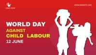 child labor day social media post Blog overskrift template