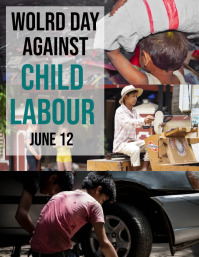 Child Labour day Flyer (US-Letter) template