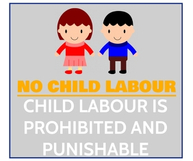 CHILD LABOUR POSTER TEMPLATE Large Rectangle