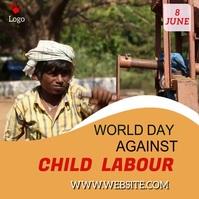 child labour video template social media post