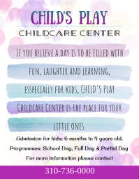 Childcare Center, Preschool Advertisement Flyer