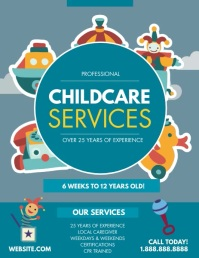 Childcare Pamflet (Letter AS) template